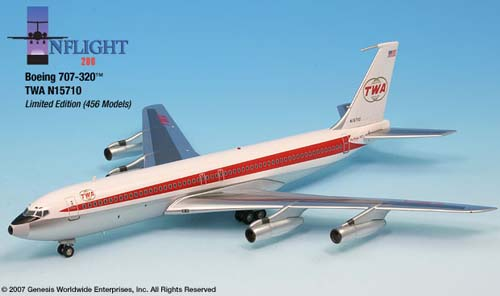 Inflight 200 Scale Diecast Airliners Twa 707 320 1 200