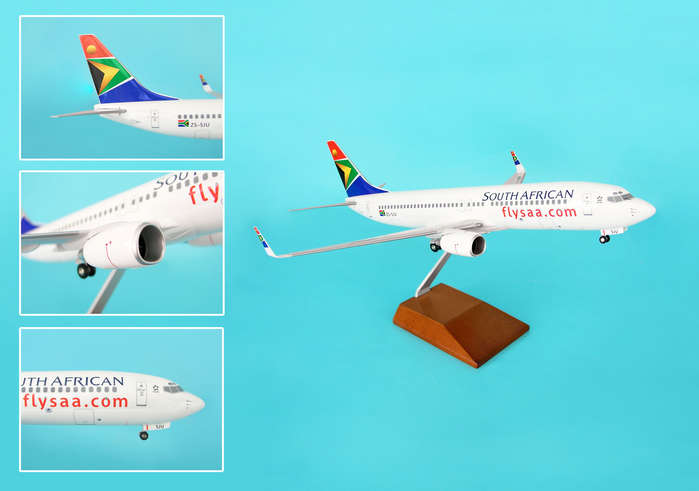 South African 737-800 W/Wood Stand & Gear (1:100)