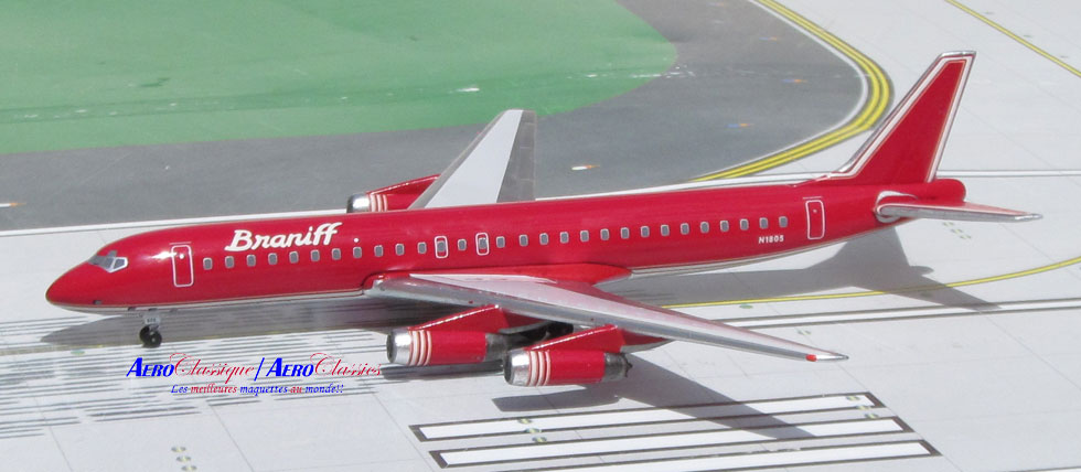 Braniff Ultra Red DC-8-62 N1805 (1:400)