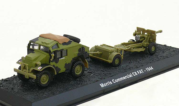 C8 Field Artillery Tractor (Quad) with 25-Pounder and Limber, 7th Armoured Division, British Army, Normandy, France, June 1944 (1:72)