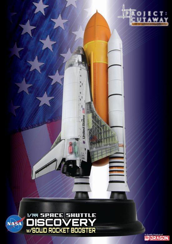 "Space Shuttle ""Discovery"" w/Solid Rocket Booster (1:144) Detailed Cutaway Model"