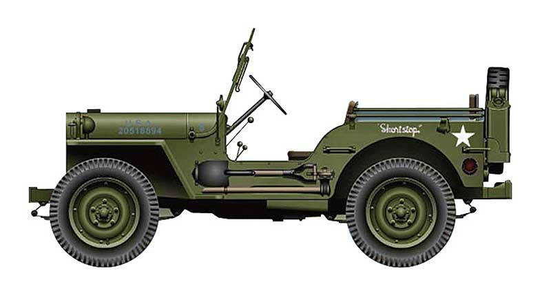 "Willys MB Jeep, 351st Infantry Regiment, 88th Infantry Division, ""Blue Devils"" Itally, 1944-45 (1:48)"