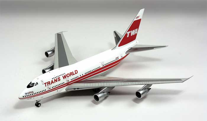 "Trans World Airlines TWA Boeing 747SP ""Boston Express"" ~N58201 (1:200)"