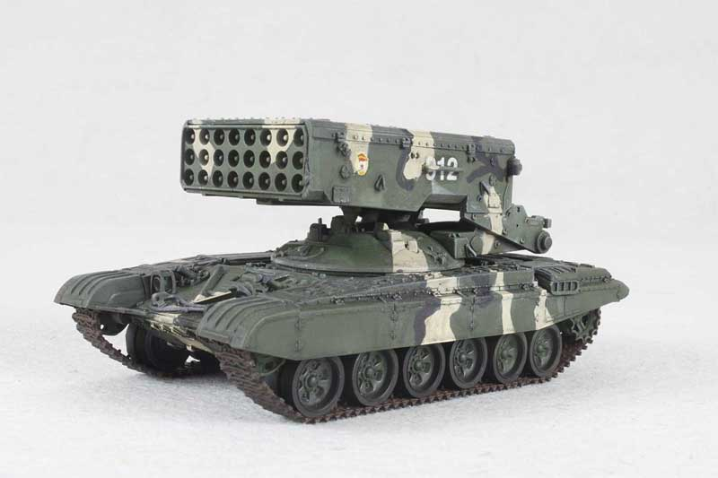 TOS-1A with T-72 Chassis Heavy Flame Thrower (Multiple Rocket Launcher) System, Russian Army, 2008 (1:72)