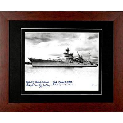 USS Indianapolis Autographed Framed Photograph
