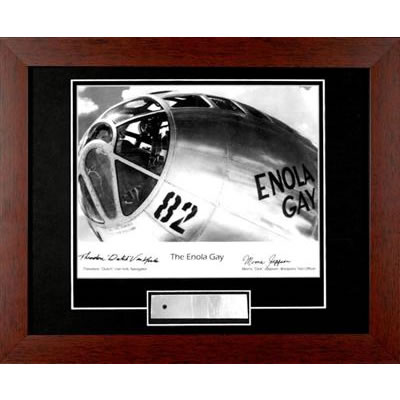The Enola Gay Two Signature Autographed Photo Framed in Metal