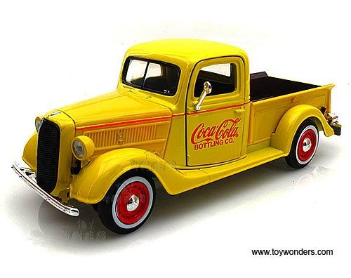 Motor City Ford Pickup Truck Coca Cola 1937 1 24