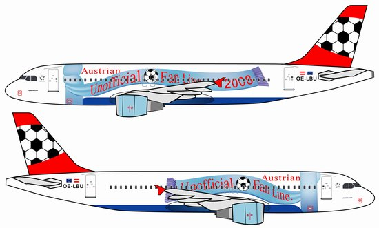Austrian Airlines A320 (1:400)