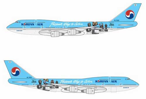 "Korean Air 747-400 ~ HL7488 ""Passionate Wings to Culture"" (1:400)"