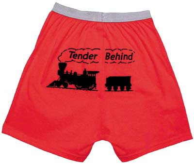 Tender Behind Boxer Shorts