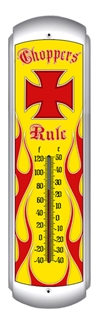 Choppers Rule Thermometer (17 inch x 5 inch)