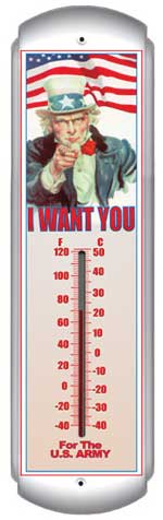 I Want You Thermometer (17 inch x 5 inch)