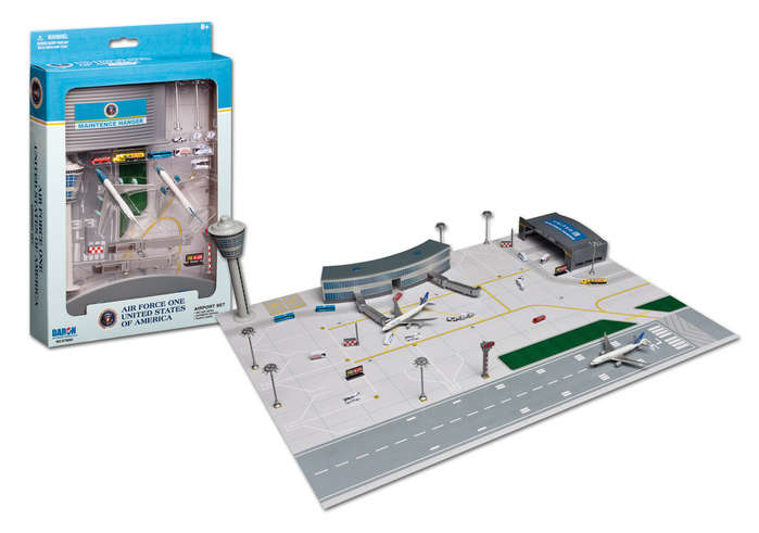 "Air Force One and Airport Play Set - 2 planes (3"" models)"