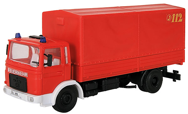 MAN Tarp-Covered Flatbed - Fire Department (1:87)