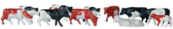 Set of 12 Cows Difficulty Rating: Beginner (1:87)