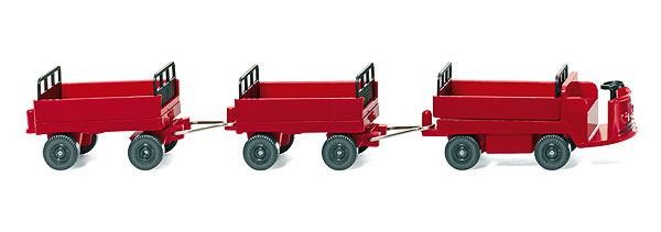 1956 Still Electric Cart with Trailers in Red  (1:87)