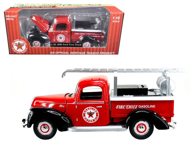 "1940 Ford Fire Truck ""Texaco"" Red 1/18 Diecast Model Car by Beyond Infinity"