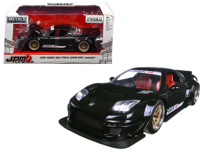 2002 Honda NSX Type-R Japan Spec Black Widebody JDM Tuners 1/24 Diecast Model Car by Jada