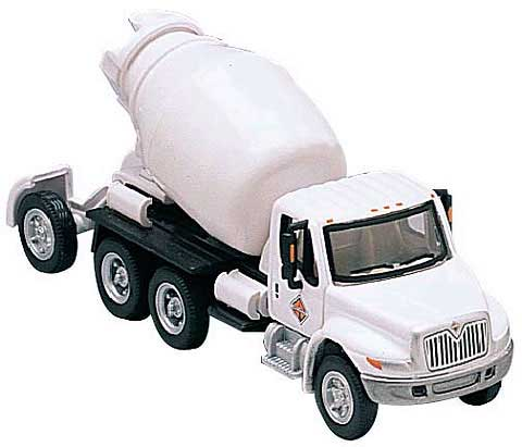 Cement Mixer in White - International 4300 4-Axle (1:87)