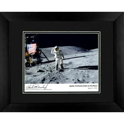 Apollo 16 Charlie Duke Autographed Framed Photograph