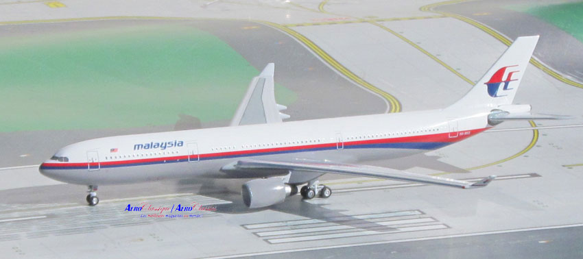 Malaysia A330-300 9M-MKE Old Colors (1:400), AeroClassics Models Item Number ACMAS1116A