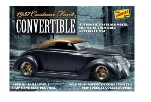 37 Ford Custom Conv 1:24, lindberg Item Number lin129