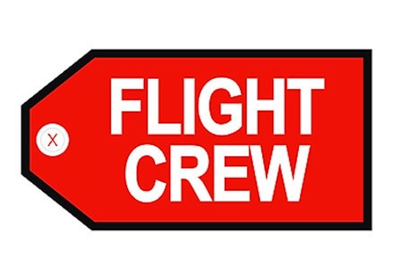 FLIGHT CREW RED Bag Tag by Airline Gifts by Aviation Collectables Intl SKU TAG200R