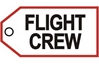 FLIGHT CREW WHITE Bag Tag by Airline Gifts by Aviation Collectables Intl SKU TAG200W