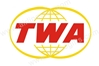 TWA Retro Logo Patch (Iron On Applique) APP023, ACI Aviation Jewelry and Bag Tags Item Number APP023
