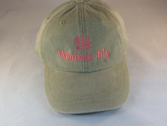 Women Fly Hat: Khaki/Coral Pink  Embroidery, Women Fly Item Number HT-WFKHPNK