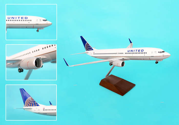 "United 737-800 ""Post Co Merger Livery"" (1:100) by Skymarks Supreme Desktop Aircraft Models item number: SKR8231"