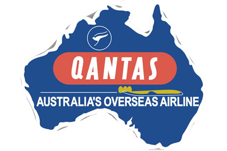 Qantas Retro Patch (Iron On), ACI Aviation Jewelry and Bagtem Number