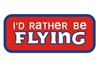 Id Rather Be Flying Patch (Iron On Applique), ACI Aviation Jewelry and Bag Tags Item Number APP013