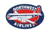 Northwest Retro Patch (Iron On Applique), ACI Aviation Jewelry and Bag Tags Item Number APP017