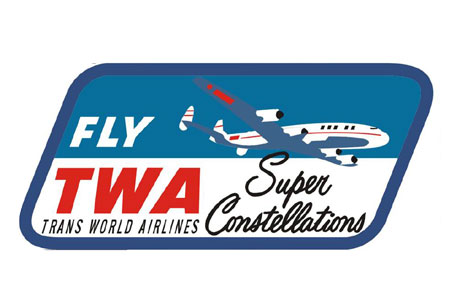 TWA Constellation Patch (Iron On), ACI Aviation Jewelry and Bagtem Number