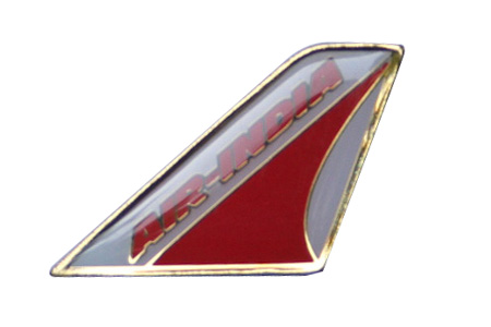 Air India Lapel/Tie Tack, ACI Aviation Jewelry and Bagtem Number