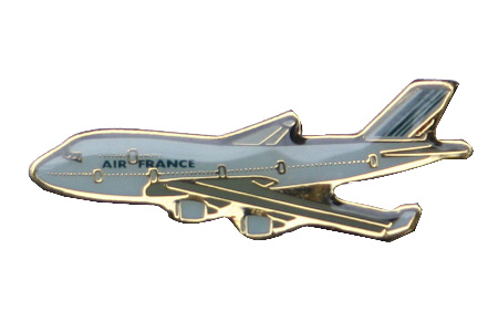 Air France B747 Lapel/Tie Tack, ACI Aviation Jewelry and Bagtem Number