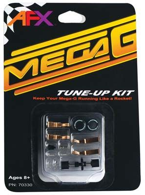 Mega-G Tune-Up Kit & Shoes, AFX Slot Car Racing Item Number AFX70330