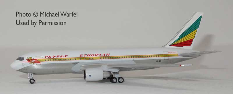 Ethiopian Airlines 767-200 ET-AIF (1:400) by AeroClassics Models Item Number: AC419454