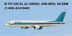El Al 757-200 4X-EBM 50th Malev 767 HA-LHB by AeroClassics Models Item Number: AC419463