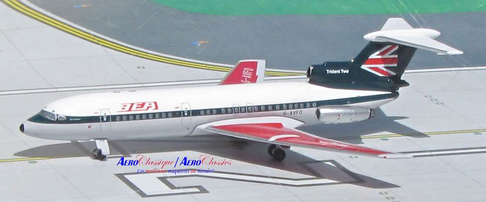 BEA Hawker Siddeley Trident 2 G-AVFO New Colors (1:400), AeroClassics Models Item Number ACBEA0716