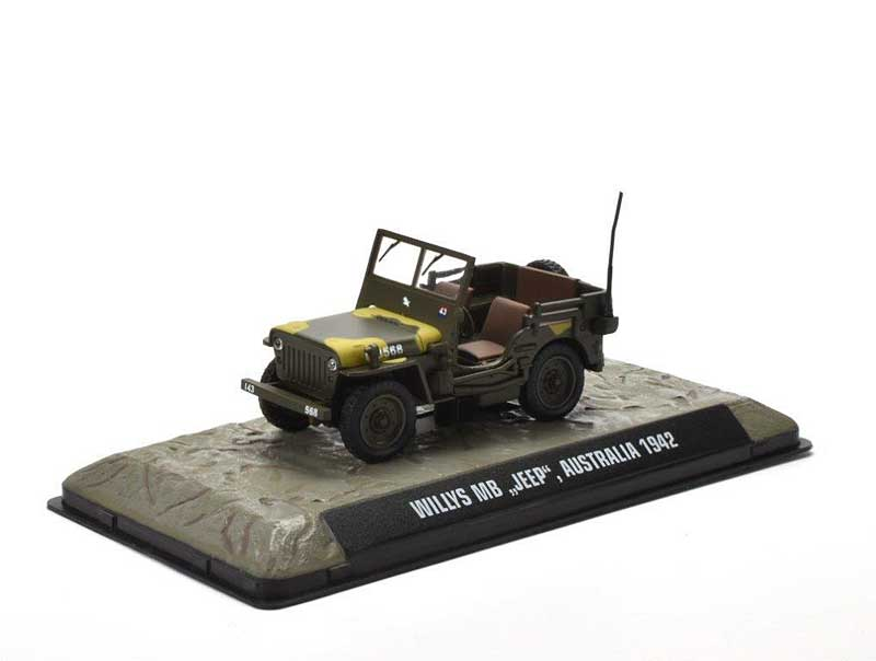Willys MB Jeep Australian Army, 1942 (1:43), Atlas Editions, Item Number ATL-7123-128