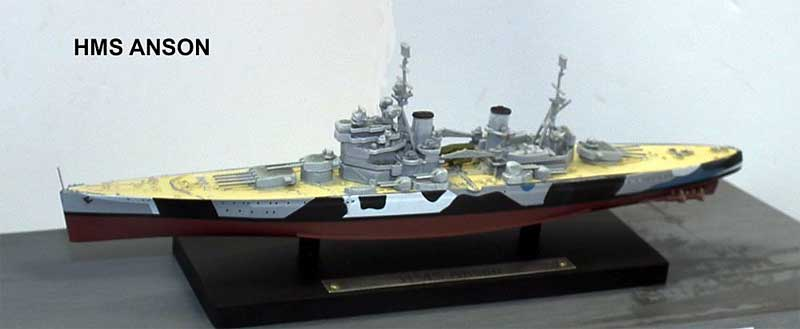 British Royal Navy battleship HMS Anson (1:1250), Atlas Editions, Item Number ATL-7134-129