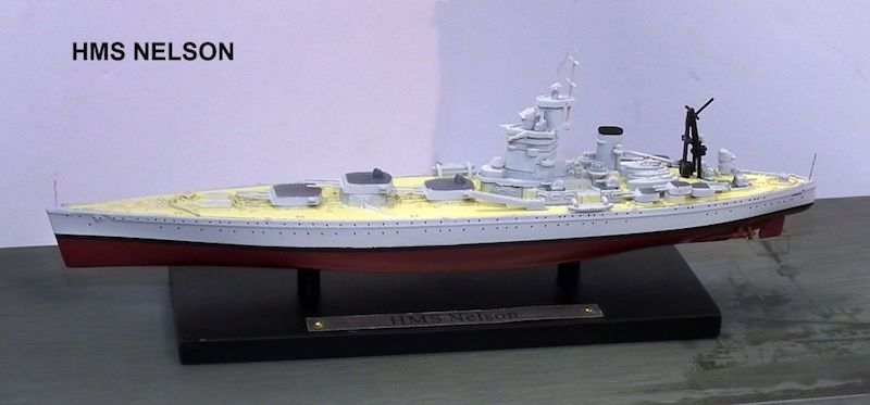 British Royal Navy battleship HMS Nelson (1:1250), Atlas Editions Item Number ATL-7134-131
