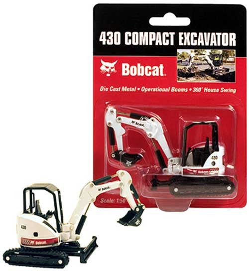 Bobcat 430 ZHS Excavator (1:50), Bobcat Diecast Construction Equipment Item Number BOB6904628