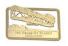 Wright Flyer Centennial Bookmark - 24 Karat Gold Plated,  Item Number BM-WF