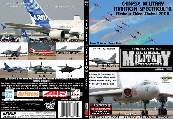 Airshow China - Zuhai (DVD), Air Utopia Aviation DVDs Item Number AUT71