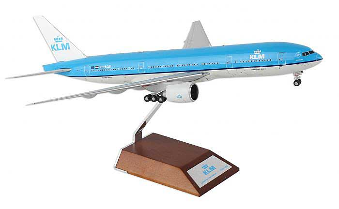 "KLM B777-200ER ""95th Anniversary"" PH-BQB with Stand (1:200), JC Wings Diecast Airliners, Item Number JC2KLM346"