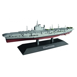 British Royal Navy aircraft carrier Illustrious 1940  (1:1250) by De Agostini Diecast Ships DAKS08
