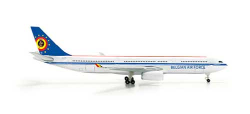 Belgian Air Force A330-300 (1:500), Herpa 1:500 Scale Diecast Airliners Item Number HE518239